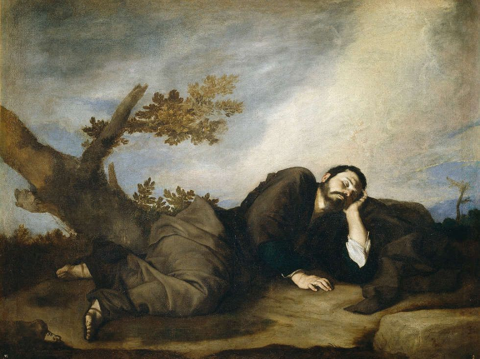 Jusepe de Ribera, Jakobs Traum, Öl/Lw, 179 x 233 cm (Madrid, Museo Nacional del Prado)