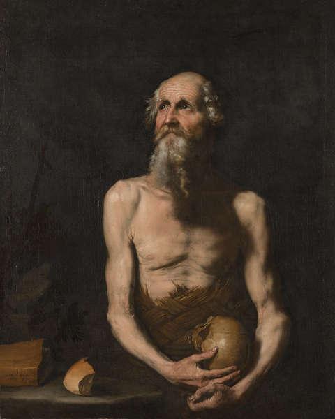 Jusepe de Ribera, Paulus, der Eremit, 1647, Öl/Lw (Wallraf-Richartz-Museum & Fondation Corboud, Foto:RBA Köln)