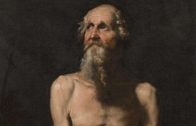 Jusepe de Ribera, Paulus, der Eremit, Detail, 1647, Öl/Lw (Wallraf-Richartz-Museum & Fondation Corboud, Foto:RBA Köln)