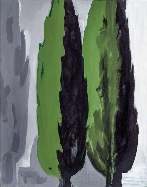 K. H. Hödicke, Doppel-Pappel, 1989/1990, Kunstharzfarbe auf Leinwand, 190 x 150 cm (Foto: Roman März © VG Bild-Kunst, Bonn 2020)
