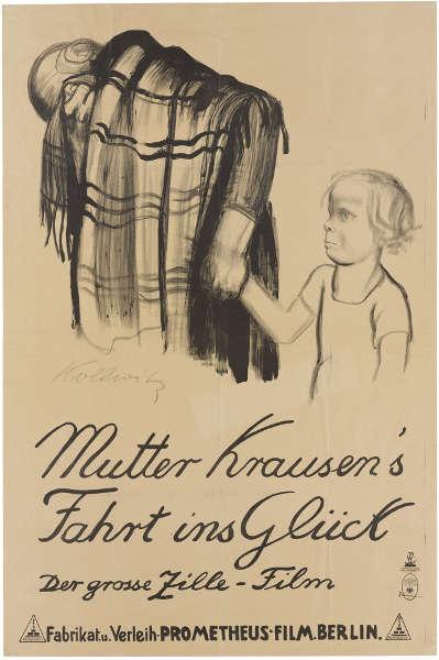 Käthe Kollwitz, Mutter Krausen's Fahrt ins Glück, 1929, Lithographie (© Käthe Kollwitz Museum Köln)