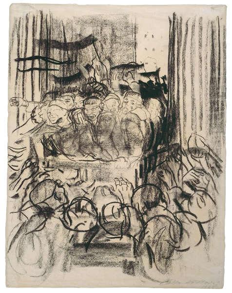 Käthe Kollwitz, Revolution 1918, 1928, Kohle und schwarze Kreide (© Käthe Kollwitz Museum Köln)