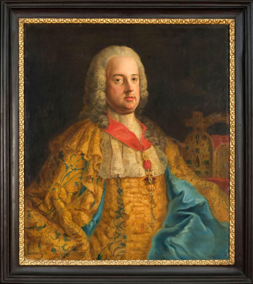 Kaiser Franz Stephan von Lothringen als römisch-deutscher Kaiser mit Reichskrone © Privatsammlung