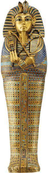 Kanopensarkophag des Tutankhamun, gewidmet an Imseti und Isis, Gold, Einlegearbeit
