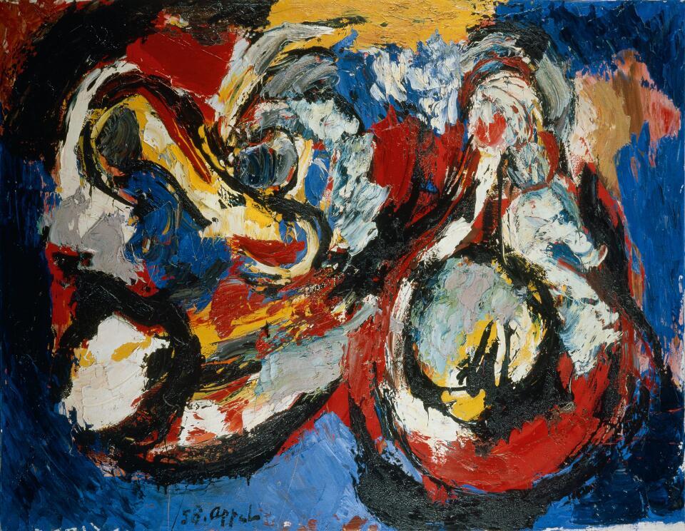 Karel Appel, L'Enfer et ses joies, 1958, Öl auf Leinwand, 130 x 196cm (Foto: Archiv Sammlung Essl © Nachlass des Künstlers, Albertina, Wien: Sammlung Essl)