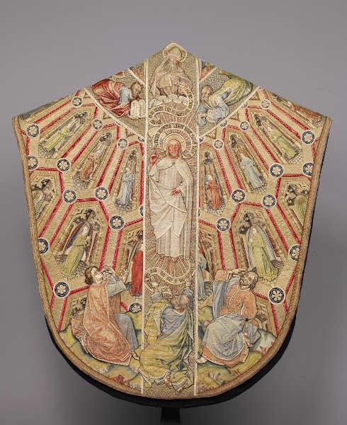 Kasel des Meßornats des Ordens vom Goldenen Vlies, Rückseite, um 1430/40, burgundisch-niederländisch, 149,5 x 135,5 cm (Kunsthistorisches Museum Wien, Kunstkammer)