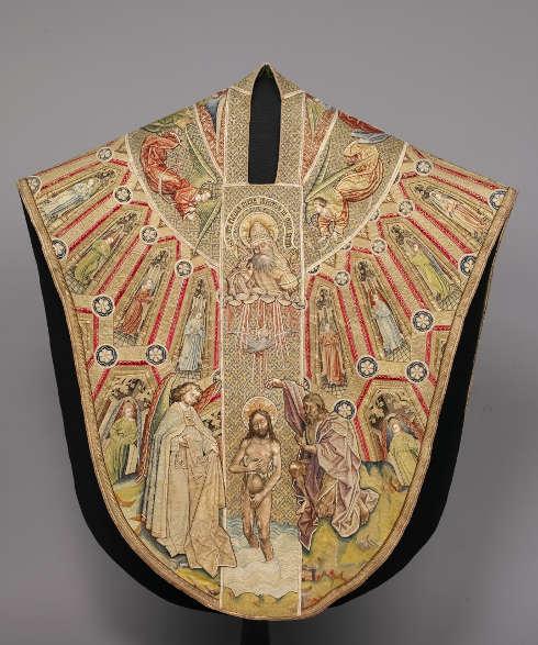 Kasel des Meßornats des Ordens vom Goldenen Vlies, Vorderseite, um 1430/40, burgundisch-niederländisch, 149,5 x 135,5 cm (Kunsthistorisches Museum Wien, Kunstkammer)