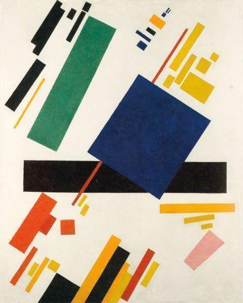 Kasimir Malewitsch, Suprematistische Komposition, 1916, Öl/Lw, 88.7 x 71.1 cm (Privatsammlung)