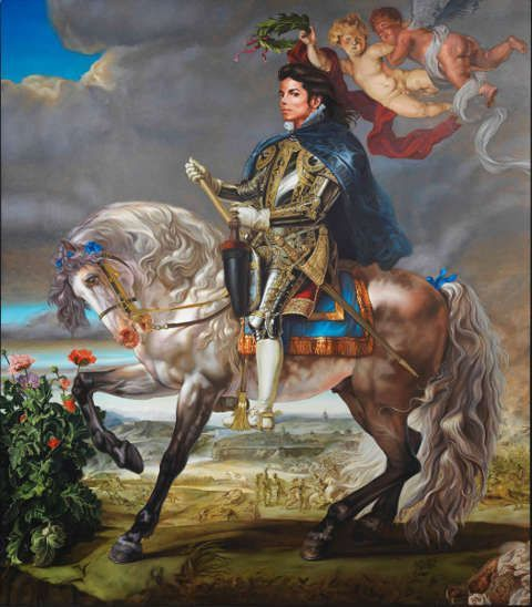 Kehinde Wiley, Equestrian Portrait of King Philip II (Michael Jackson), 2010