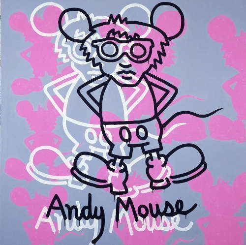 Keith Haring, Andy Mouse, 1985 (Copyright © Keith Haring Foundation)