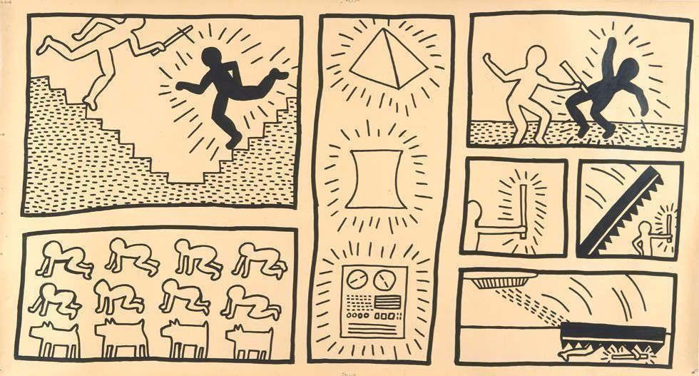 Keith Haring, Ohne Titel, 1980, Tinte auf Plakatkarton (© Keith Haring Foundation)