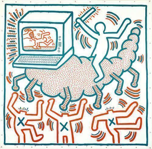 Keith Haring, Ohne Titel, 1983 (Copyright © Keith Haring Foundation)