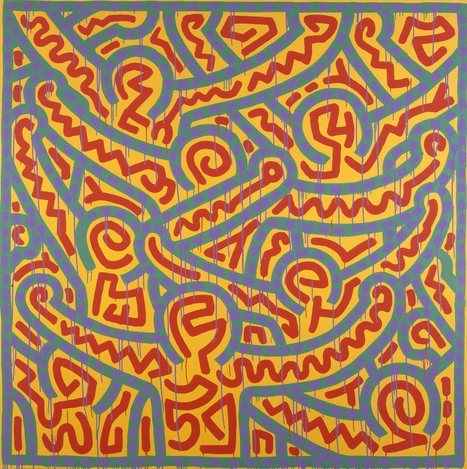 Keith Haring, Ohne Titel, 1989, Acryl und Emailfarbe auf Leinwand (© Keith Haring Foundation)
