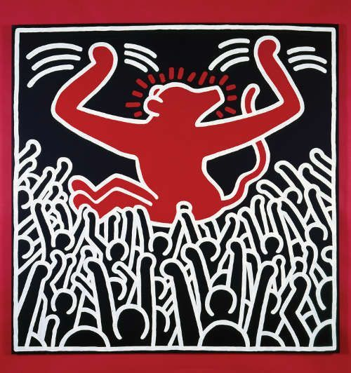 Keith Haring, Ohne Titel, April 9, 1985 (Copyright © Keith Haring Foundation)