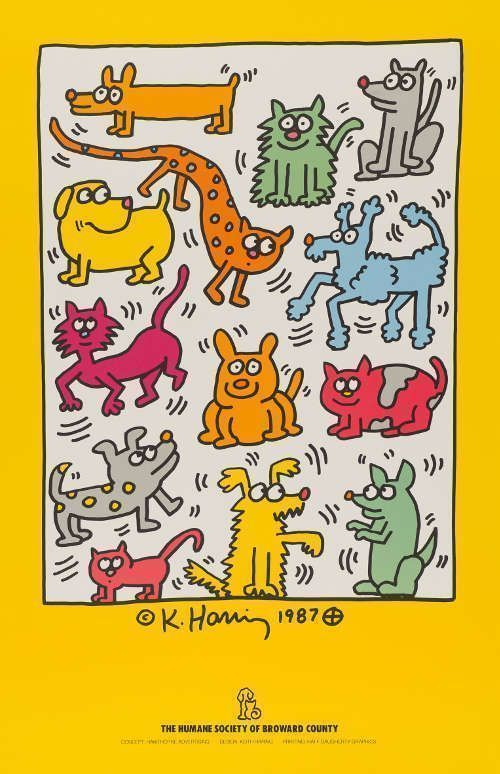 Keith Haring, The Humane Society of Broward County, 1987 Offsetlithografie, 86,2 x 55,8 cm © Keith Haring Foundation