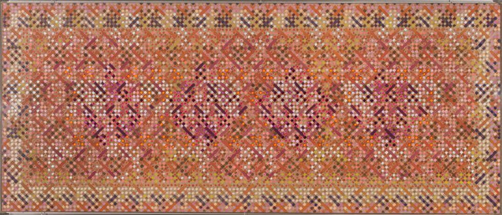 Kendall Shaw, Bethune, 1978, Acryl, Leinwand, 101,8 x 241,5 cm (Ludwig Forum für Internationale Kunst Aachen, Leihgabe der Peter und Irene Ludwig Stiftung © Kendall Shaw / Foto: Carl Brunn)