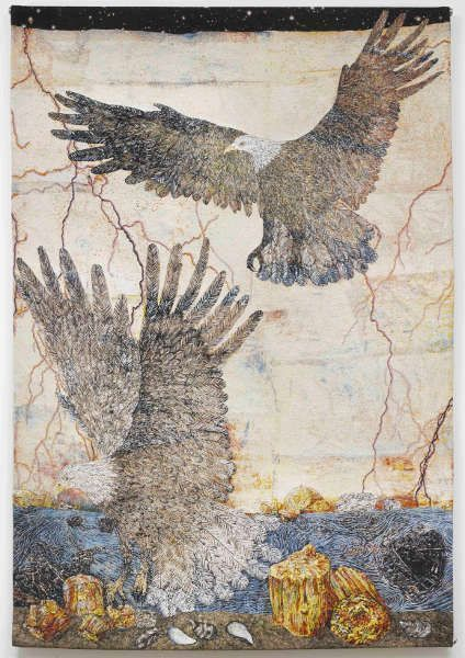 Kiki Smith, Guide, 2012, Jacquard-Tapisserie, 287 x 190,5 cm (Courtesy of the artist und Barbara Gross Galerie, München)