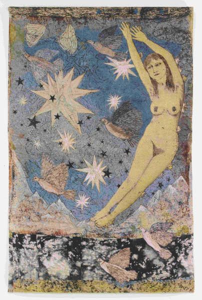 Kiki Smith, Sky, 2011, Jacquard-Tapisserie, 287 x 190,5 cm (© Kiki Smith, courtesy Pace Gallery, Foto courtesy the artist and Magnolia Editions, Oakland)