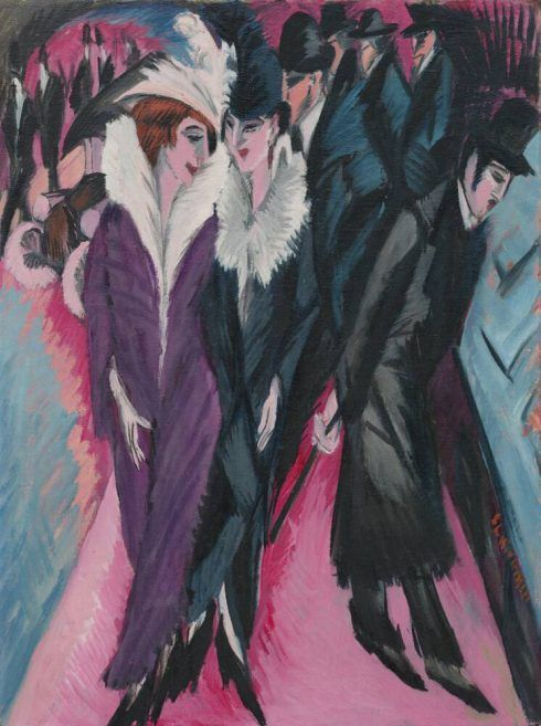 Ernst Ludwig Kirchner, Die Straße, 1913, Öl auf Leinwand, 120,5 × 91 cm (The Museum of Modern Art, New York, purchase, 1939, Foto © 2017 Digital image, The Museum of Modern Art/Scala Florence)