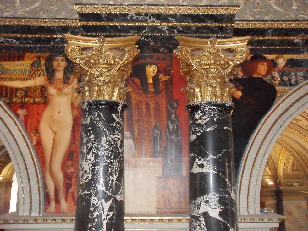 Klimt, Ägypten und Renaissance, Kunsthistorisches Museum, Stiegenhaus, Foto: ARTinWORDS, Alexandra Matzner