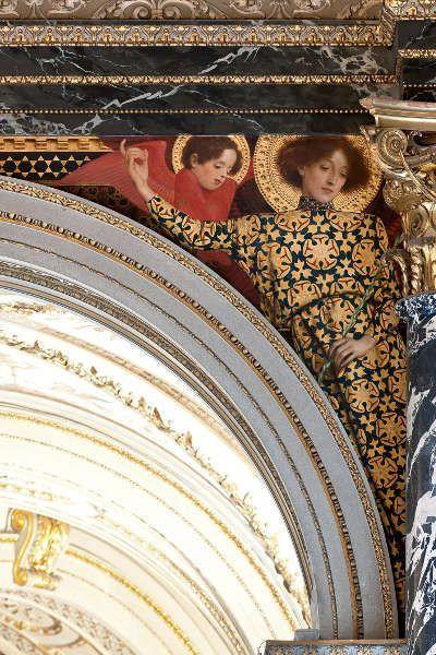 Klimt, Altitalienische Kunst (Heilige mit Cherubim), Kunsthistorisches Museum, Stiegenhaus