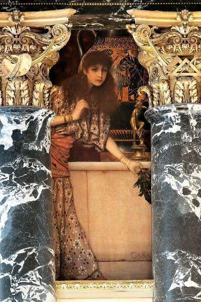Klimt, Griechische Antike (Mädchen aus Tanagra), Kunsthistorisches Museum, Stiegenhaus