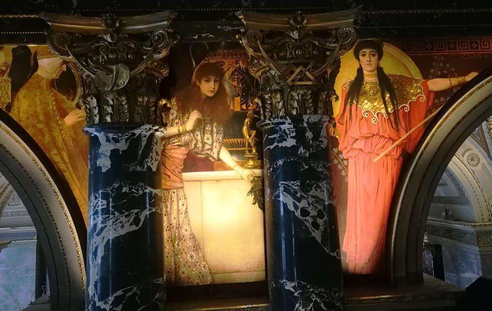 Gustav Klimt, Venezianische Renaissance, Tanagra-Mädchen, Athena im Kunsthistorischen Museum, Foto © Alexandra Matzner, ARTinWORDS