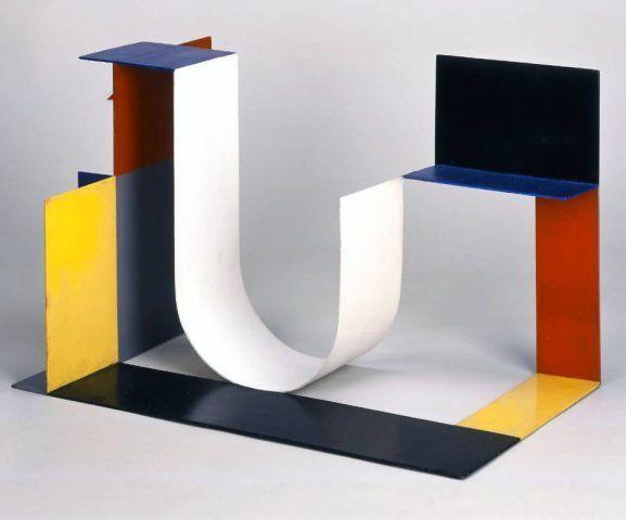 Katarzyna Kobro, Kompozycja Przestrzenna (4) [Raumkomposition], 1929, Öl auf Metall, 40 x 64 x 40 cm (Muzeum Sztuki, Łódź)