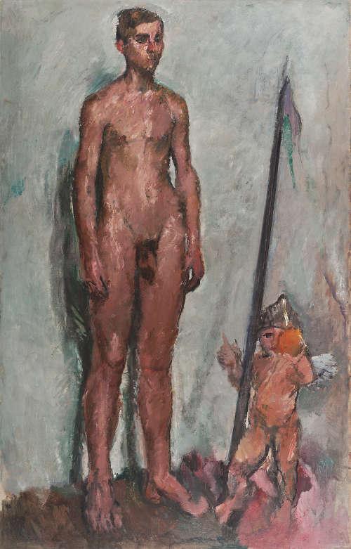 Anton Kolig, Jüngling mit Amor, 1911, Öl auf Leinwand, 168 x 108,8 cm (Leopold Museum, Wien)