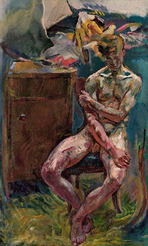 Anton Kolig, Am Morgen, 1919, Öl auf Leinwand, 152 x 93,1 cm (Leopold Museum, Wien)