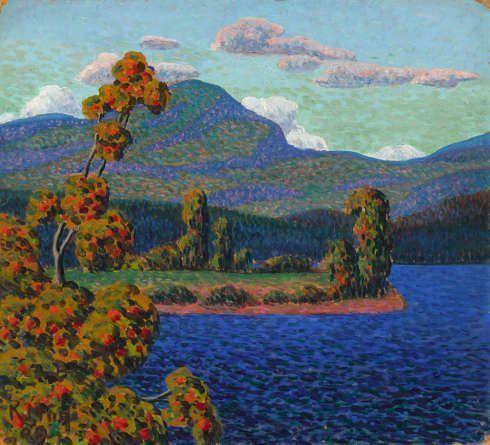 Konrad Mägi, Landschaft in Norwegen mit Kiefern, 1908–1910, Öl/Lw, 58,5 x 75,2 cm (Tallinn, Musée d'art d'Estonie (EKM M 1986) Photo courtoisie du Musée d'art d'Estonie)