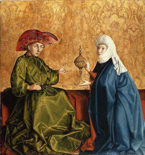 Konrad Witz, Die Königin von Saba vor Salomo, um 1430/37, Öl auf Eichenholz (© Staatliche Museen zu Berlin, Gemäldegalerie / Jörg P. Anders)