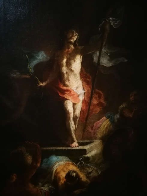 Martin Johann Schmidt [Kremser Schmidt], Auferstehung Christi, Detail, 1783-1785, Öl/Lw, 64,5 x 50,5 cm (Benediktinerstift Göttweig)