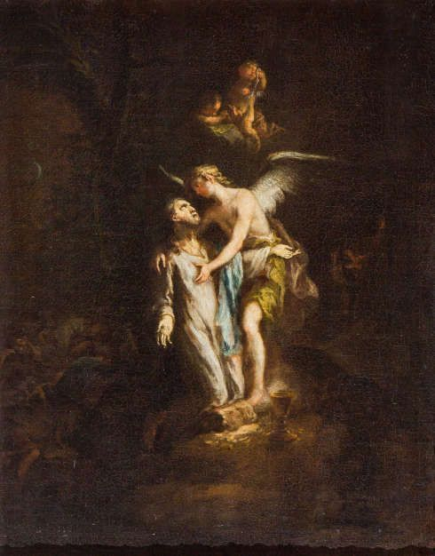 Martin Johann Schmidt [Kremser Schmidt], Christus am Ölberg, 1783–1785, Öl/Lw, 64,5 x 60,5 cm (Benediktinerstift Göttweig)