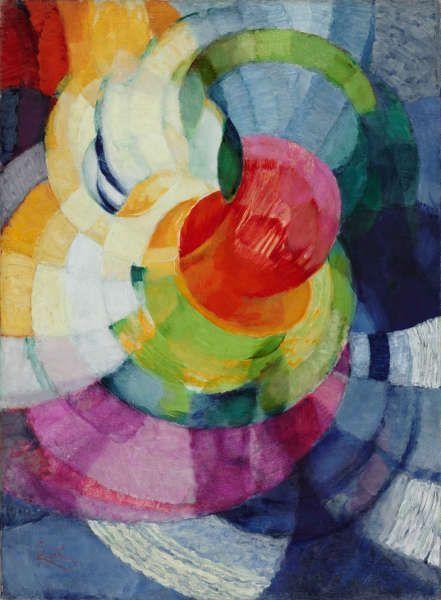 František Kupka, Disques de Newton, 1912, Öl/Lw, 100 x 73,7 cm (Philadelphia Museum of Art, The Louise and Walter Arensberg Collection, 1950 © Adagp, Paris 2018 © Philadelphia Museum of Art)