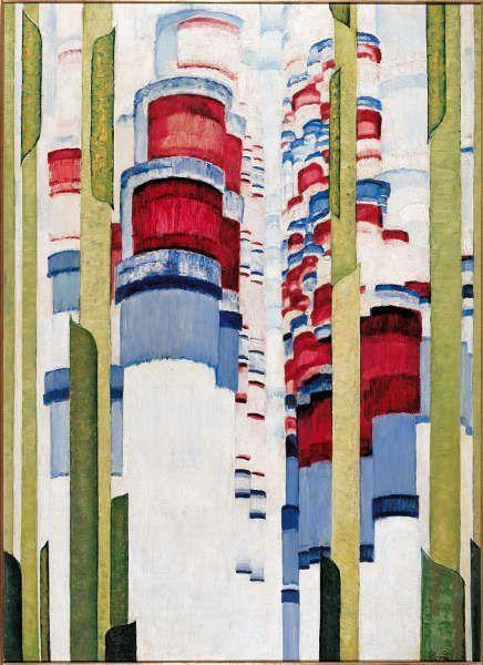František Kupka, La Montée, 1922/23, Öl/Lw, 111,1 x 80,7 cm (Albertina Museum, collection Batliner, © Adagp, Paris 2018 © The Albertina Museum, Vienna. The Batliner Collection)