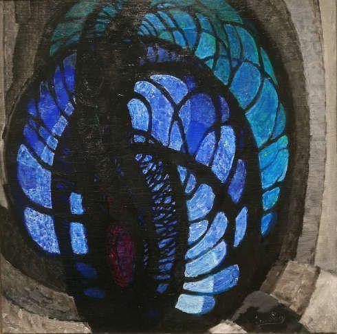 Kupka, Traits, plans et profondeur I, 1920-1922, Öl/Lw (Centre Pompidou, Paris), Foto: Alexandra Matzner, ARTinWORDS