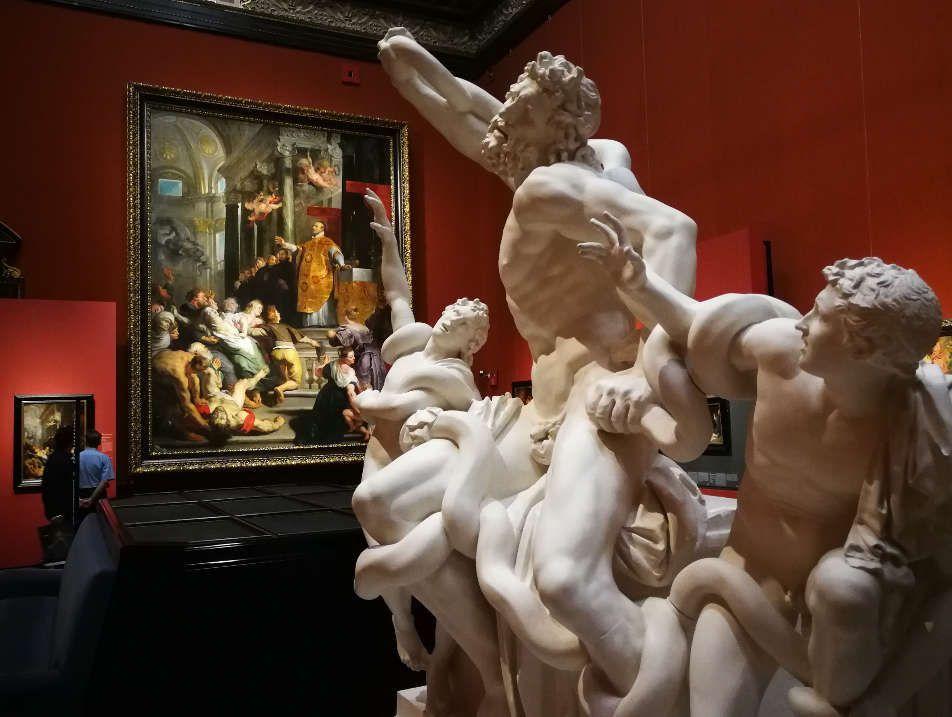 Laokoon und Peter Paul Rubens Ausstellungsansicht: Peter Paul Rubens. Kraft der Verwandlung, Foto: Alexandra Matzner, ARTinWORDS.