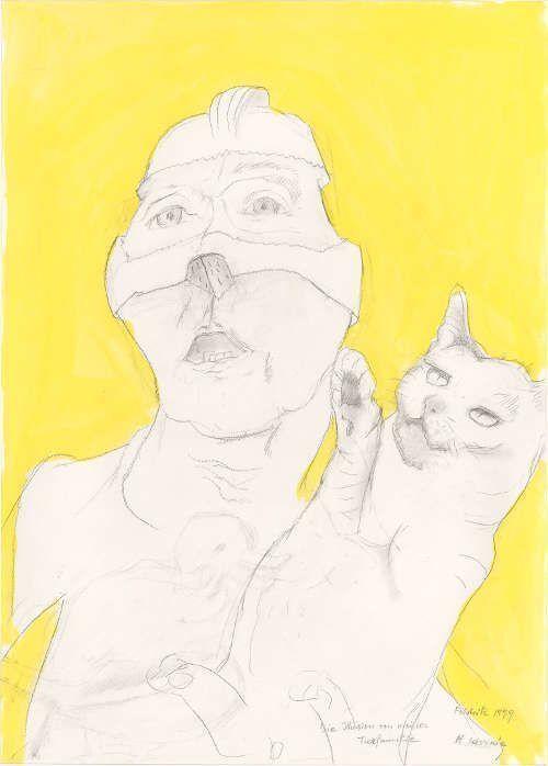 Maria Lassnig, Die Illusion von meiner Tierfamilie, 1999 (Albertina, Wien © 2017 Maria Lassnig Stiftung)