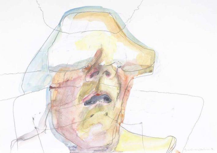 Maria Lassnig, Gesichtsschichtenlinien, 1996 (Albertina, Wien © 2016 Maria Lassnig Stiftung)