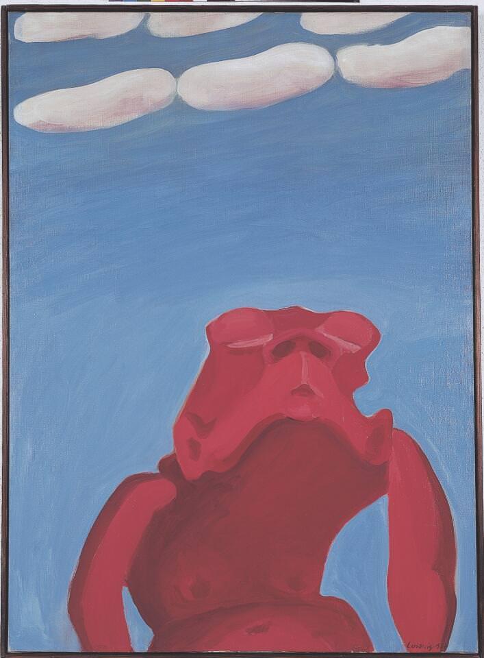 Maria Lassnig, Traum, 1964, Öl auf Leinwand, 100 x 73 cm (Sammlung Klewan, © Maria Lassnig Stiftung)
