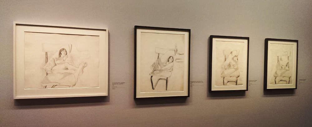 """Lassnig, Murder of Maria Lassnig, Ausstellungsansicht """"Maria Lassnig – Zwiegespräche"""" in der Albertina 2017, Foto: Alexandra Matzner, ARTinWORDS"""