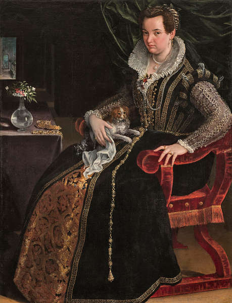Lavinia Fontana, Costanza Alidosi, um 1595, Öl/Lw (Washington D. C., National Museum of Women in the Arts, Gift of Wallace and Wilhelmina Holladay)