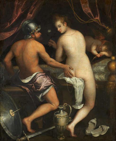 Lavinia Fontana, Mars und Venus, um 1595, Öl/Lw (Fundación Casa de Alba, Madrid)