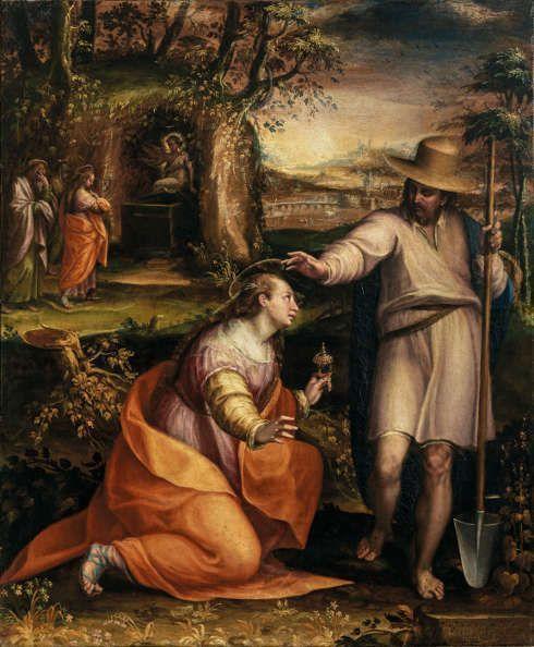 Lavinia Fontana, Noli me tangere, 1581, Öl/Lw (Gallerie degli Uffizi, Galleria delle statue e delle pitture, Florenz)