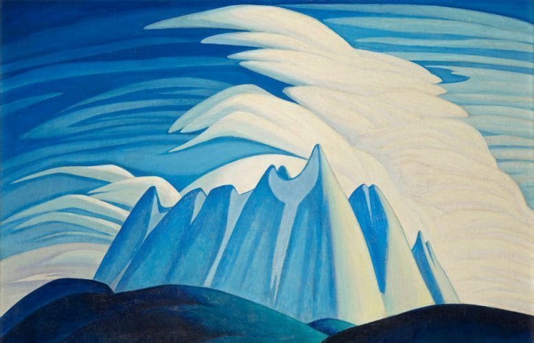 Lawren S. Harris. Lake and Mountains, Detail, 1928. Öl/Lw (Art Gallery of Ontario. Gift from the Fund of the T. Eaton Co. Ltd. for Canadian Works of Art, 1948. Courtesy of the Estate of Lawren S. Harris. © Family of Lawren S. Harris, Photo Art Gallery of Ontario, 48/8)