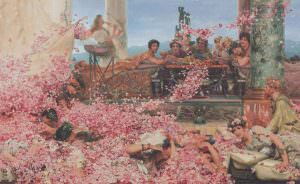Lawrence Alma-Tadema, The Roses of Heliogabalus, 1888, Öl auf Leinwand, 132,7 x 214,4 cm (Colección Pérez Simón, Mexiko, Foto: © Piera, Arturo)