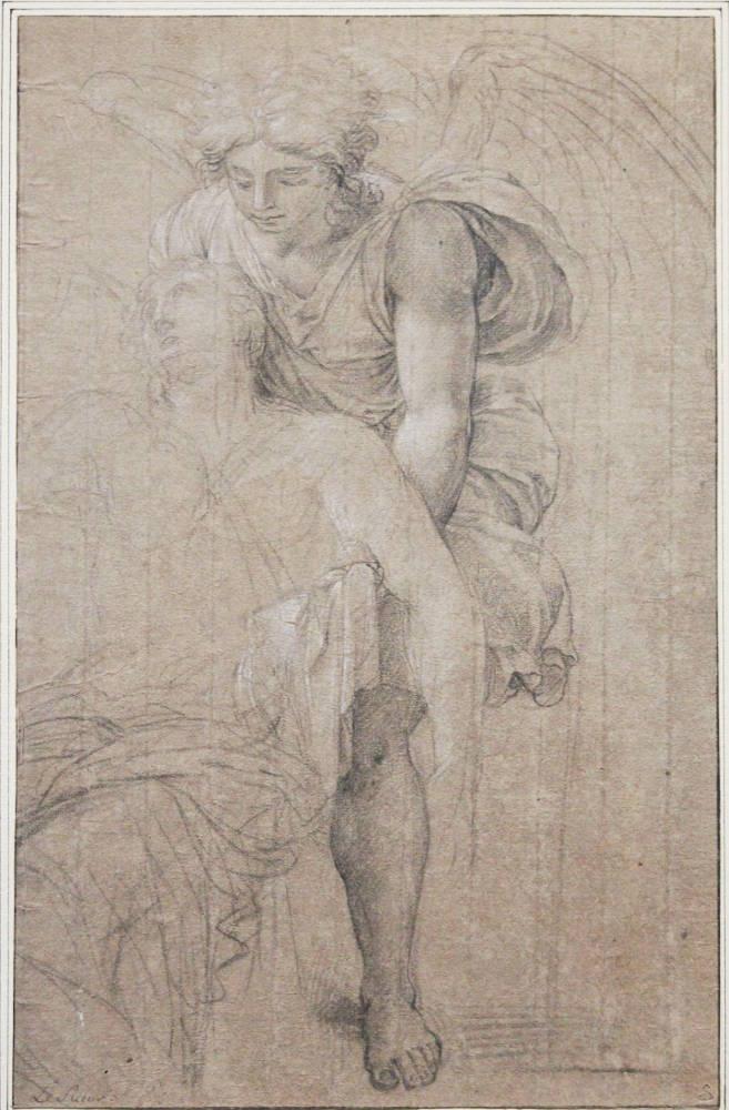 Eustache Le Sueur, Ein Engel stützt den hl. Sebastian, 1654/55 (Albertina, Wien; Foto: Alexandra Matzner, ARTinWORDS)
