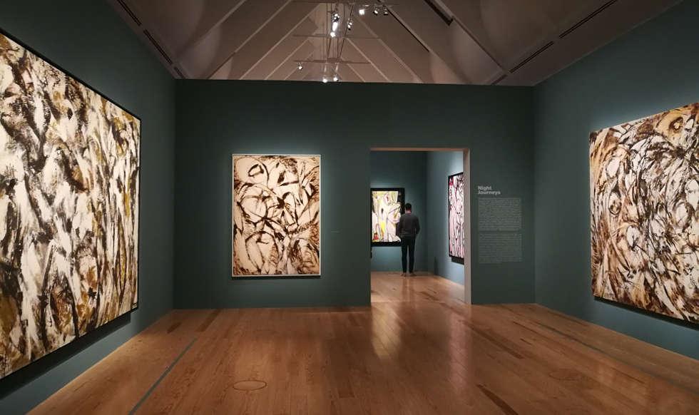 Lee Krasner, Night Journeys, 1960, Ausstellungsansicht Schrin 2019, Foto: ARTinWORDS