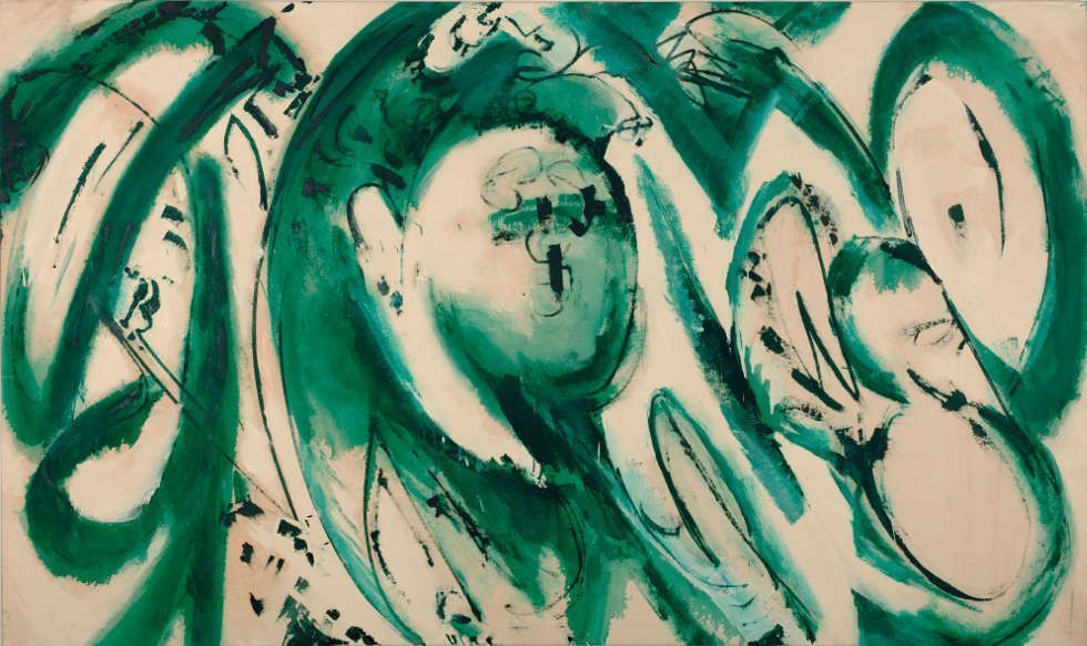 Lee Krasner, Portrait in Green, 1969 (Collection Pollock-Krasner Foundation. © The Pollock-Krasner Foundation, courtesy Kasmin Gallery, New York. Photo: Diego Flores)